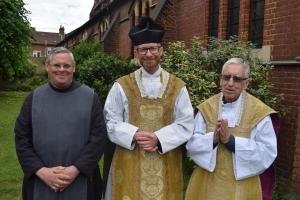 Br Steven, Fr Stuart and Fr Norwood